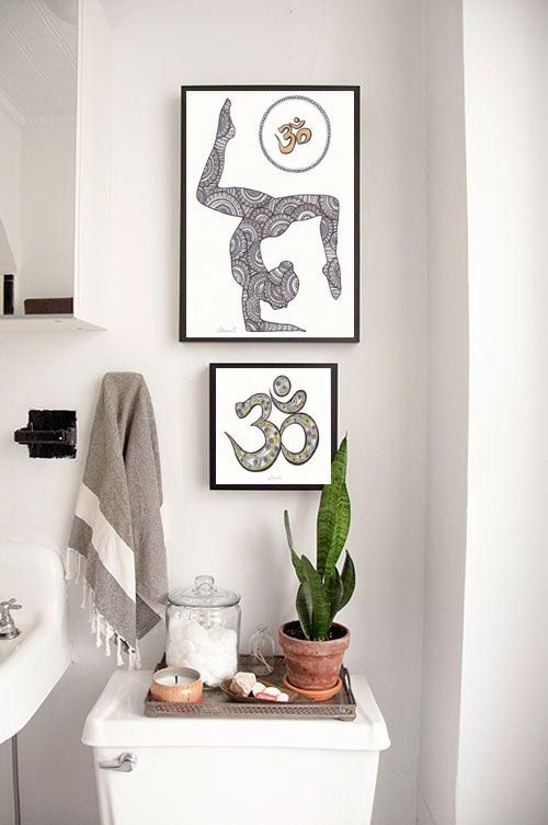 Best Yoga Studio Art Images On Pinterest