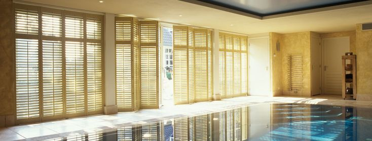 Shutters are great for around your pool area.