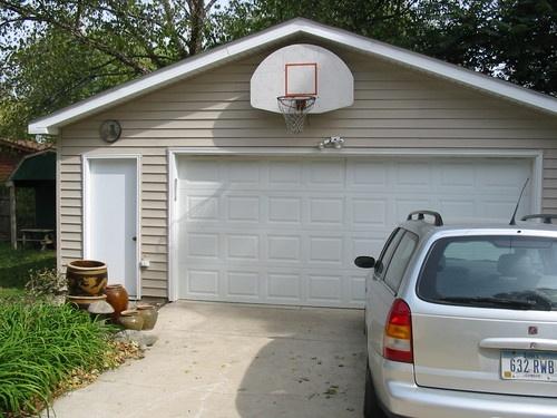 Basketball Hoop Behind Garage Outdoor Ideas Pinterest