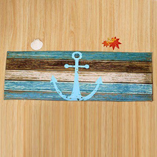 WINOMO Felpudo Alfombra Antideslizante con Diseño Anclaje Decoracion Nautica 40x60cm: Amazon.es: Hogar