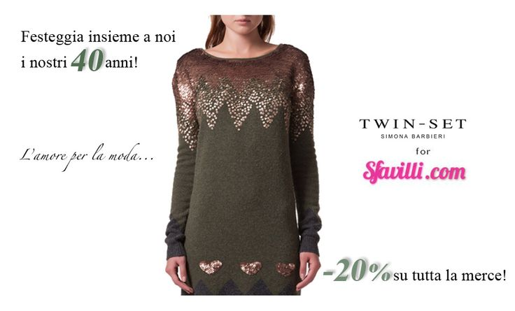 abito in misto lana con ricami paillettes by Twin Set http://www.sfavilli.com/it/abiti/17-ABITO-CON-RICAMO-IN-PAILL.html