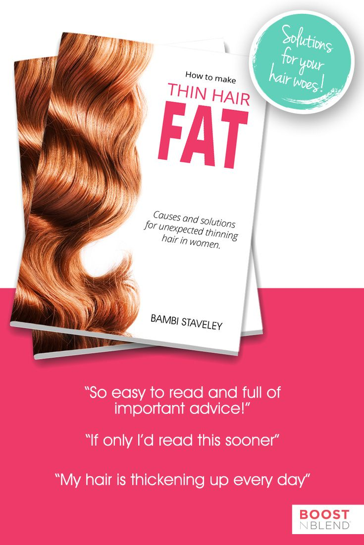 Bambi Staveley's brand new book, HOW TO MAKE THIN HAIR FAT is making a difference to women just like you. There is nothing more powerful than the drive to solve an embarrassing problem. Three years of Bambi's research and her wisdom as a trained nurse ensures that this easy to read book contains dozens of valuable tips and solutions. Get your copy today: http://amzn.to/2c5wTZX (affiliate link) #thinhair #hairloss #haircare #hairtips #hairhelp #boostnblend