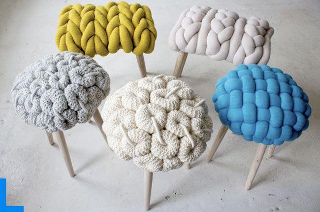 Вязанные стулья от Клэр Энн О'Брайен