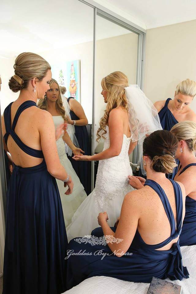 The Nautical Navy colour of our Goddess By Nature Signature Dresses is such a gorgeous colour which looks beautiful on both light & dark skintones. A very popular colour for bridal parties.
