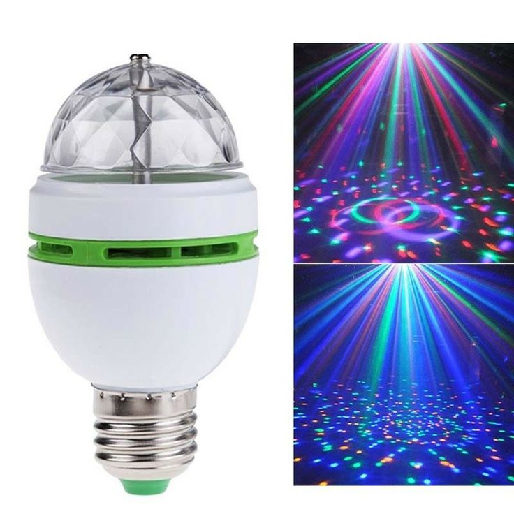E27 3W Colorful Auto Rotating RGB LED Bulb Stage Light Party Disco Club Lamp #Af…