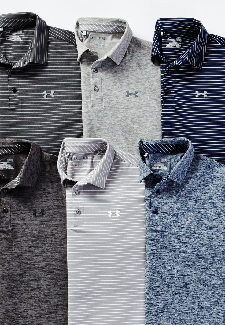 Transition from the office to the course seamlessly in Under Armour Golf polos.