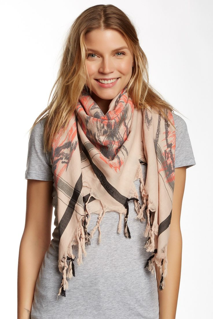 Leigh & Luca | Abstract Printed Tassle Scarf