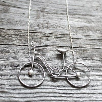 Bike in sterling silver - Maja Ternström Jewellery - Nordic Design Collective  #bike lovers ;)
