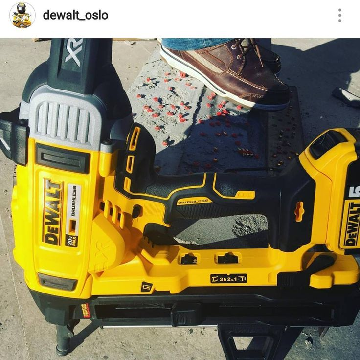 cordless concrete pinner on the way?  Yes please Dewalt.  I have no idea on specs, but wow this is just beautiful.  #dewalt #concretepinner #ramset #concrete #pinner #drywall #trackfast #hilti