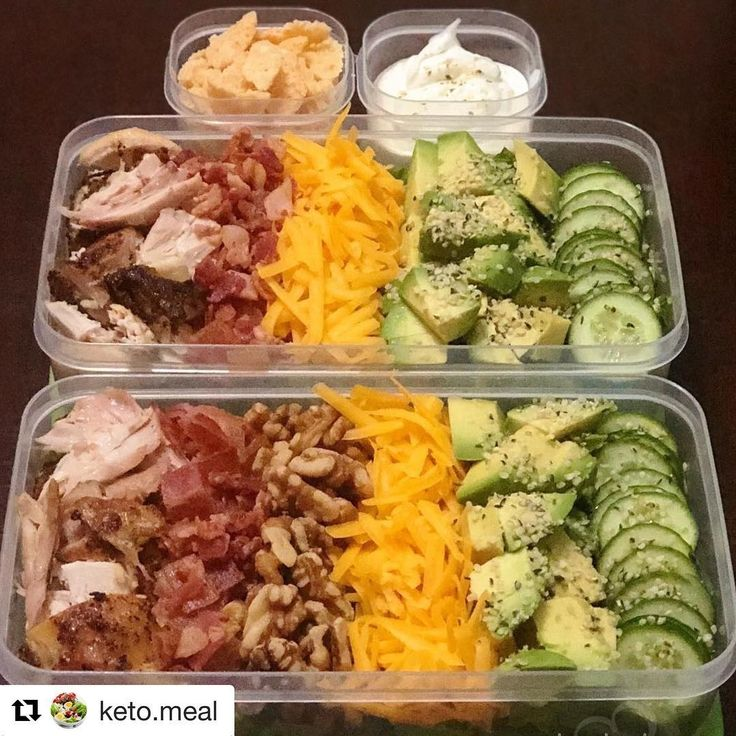 Keto Recipes On Instagram Repost Keto Meal Packed Salads For Lunch Today Bed Of Lettuces