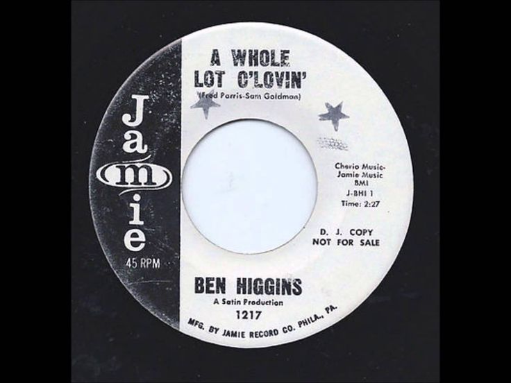 Ben Higgins & Group - Really Paradise / A Whole Lot Of Lovin' - Jamie 12...