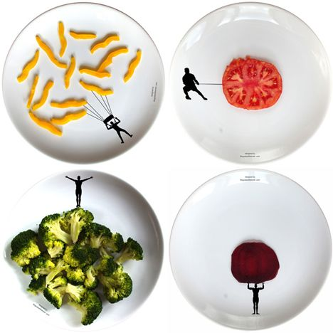 Sports Plates, a new series of dishes to make kids eat veggiesExtreme Sports, Food For Thoughts, Sports Plates, Art Sul-Africana, African-American Food, Boguslaw Sliwinski, After Workout, Plays Food, Design