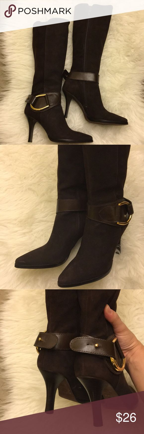 Antonio Melani Brown Boots. They still look brand new! Beautiful! Size 6 ANTONIO MELANI Shoes Heeled Boots