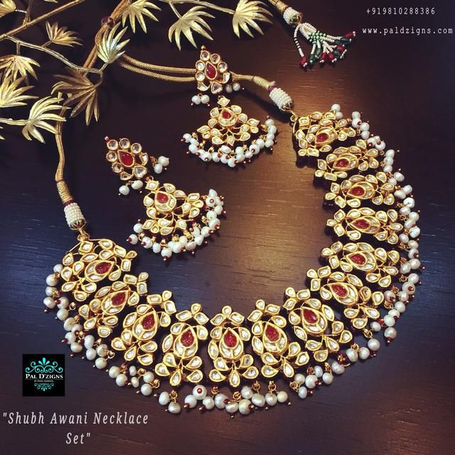 Shubh Awani Necklace Set (Kundan)