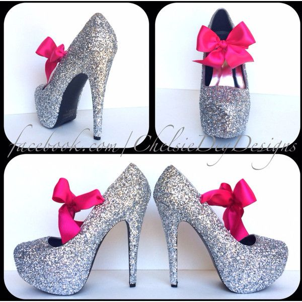 Glitter High Heels Silver Grey Gray Pumps Sparkly Wedding Shoes... ($70) ❤ liked on Polyvore featuring shoes, pumps, silver, women's shoes, wedding shoes, silver wedding shoes, platform pumps, silver sparkle pumps and grey pumps