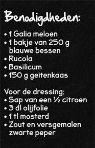Meloensalade met blauwe bessen en geitenkaas - Lidl Nederland