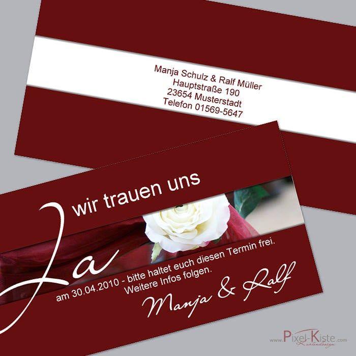 Save The Date Hochzeitskarten