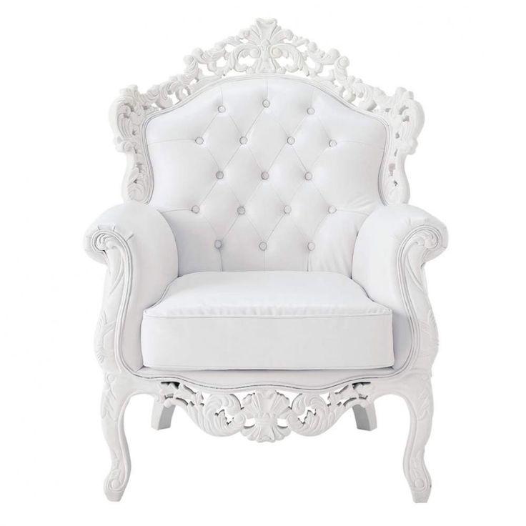 Der Weiße Sessel Barocco Ist Ein Bequemer Designsessel Mit Kapitonierter  Rückenlehne. Edel Und Gepflegt. Ein Prachtvoller Sessel Im Barockstil Für  Ein ...