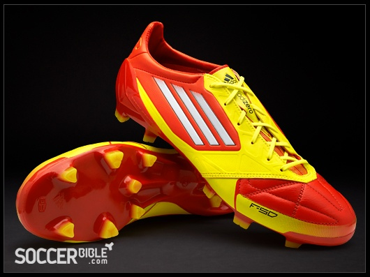 adidas F50 adizero miCoach Leather Football Boots - High  Energy/White/Electricity - http