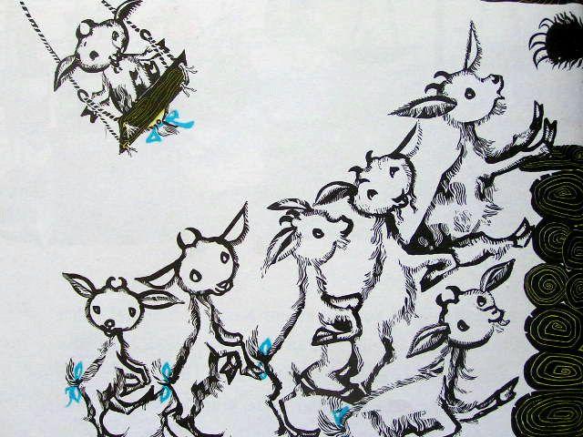 Der Wolf und die sieben jungen Geißlein:Regine Grube-Heinecke http://twin-rabbit.com/?pid=72395322
