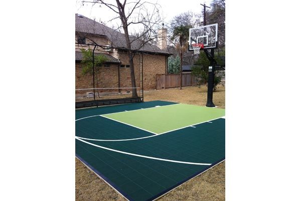 Backyard Basketball Court And Made By An Austin Business