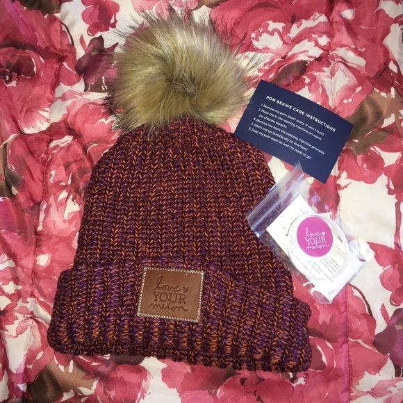 Pom beanie Brand new LYM Pom beanie. Nothing wrong with the beanie, super warm and cute, just doesn't look cute on me! Love Your Melon Other