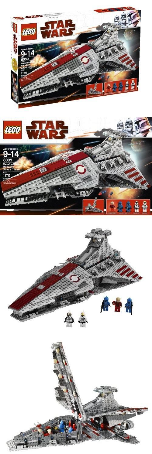 LEGO Star Wars Venator-class Republic Attack Cruiser (8039), Pieces: 1170. Rule the galaxy with the ultimate Republic starship. Built for ship-to-ship combat and bristling with turbolaser batteries, the Venator-class Republic Attack Cruiser is Grand Chancellor ..., #Toys, #Building Sets