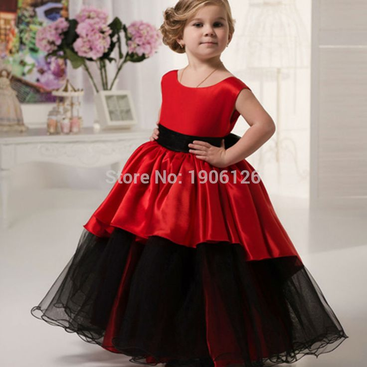 Red Pageant Ball Gowns For Girls Kids Evening Gowns Prom Dress