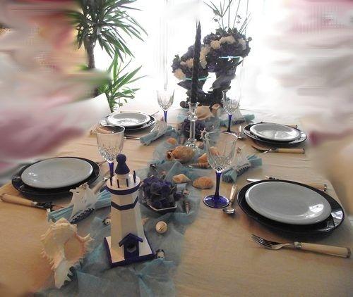 D coration de table bord de mer un phare des - Tout pour la table ...