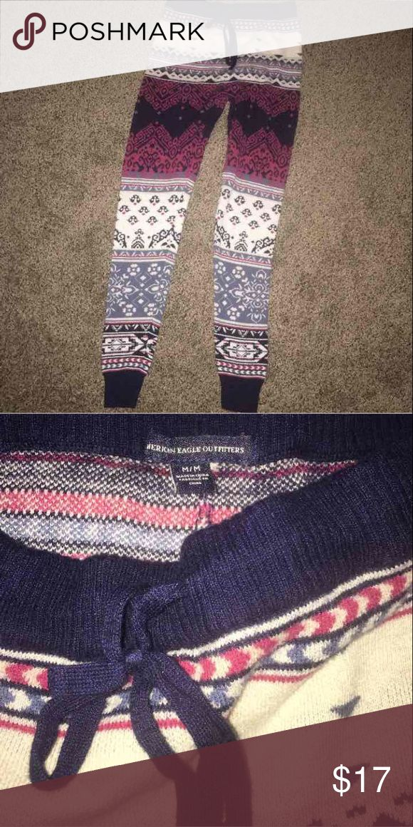 American Eagle leggins American Eagle size medium thick sweater material leggins. Only worn twice. Like new. Warm American Eagle Outfitters Pants Leggings
