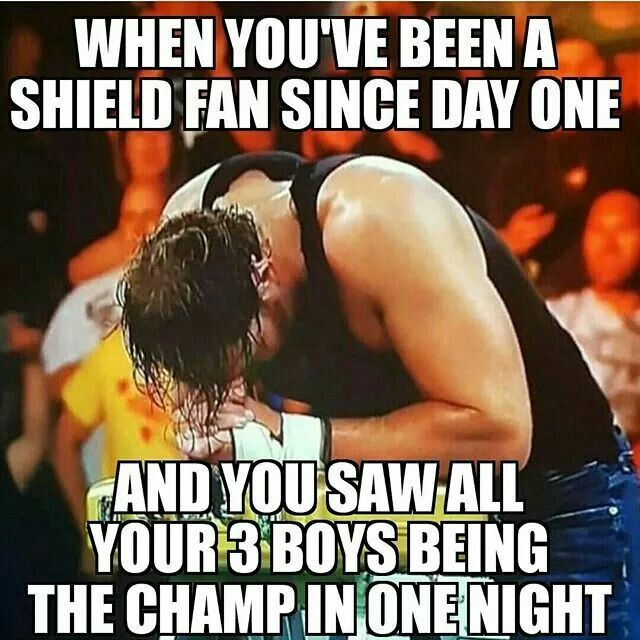 Roman walked in champ, Seth beat Roman for it, but Dean cashed in money in the bank and walked out champ