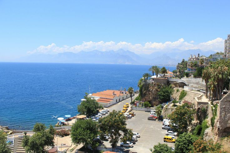The blue sky and the white clouds make me want to sip life in contentment.  Antalya, Turkiye