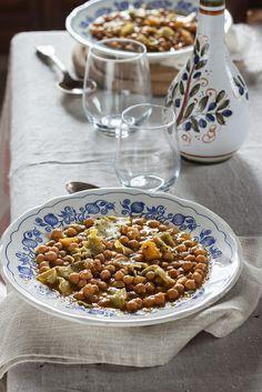 Zuppa di ceci con maltagliati al rosmarino