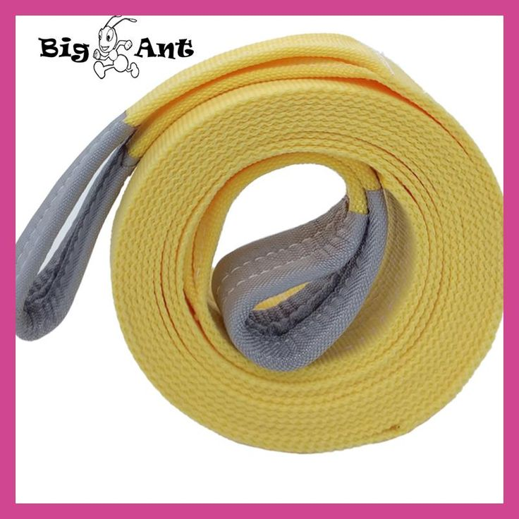 """Big Ant Nylon Recovery Tow Strap Rope 11023-17636 LB Capacity Emergency Heavy Duty Towing Ropes(2.95"""" x 19.68')"""