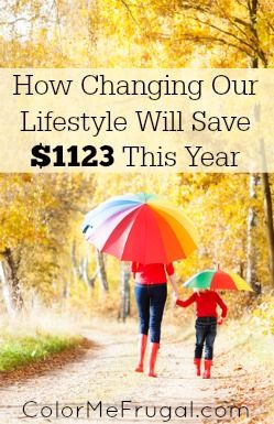 These days the frugal among us are constantly looking for ways to save money. Find out how we made just one change that will save us $1123 this year!!