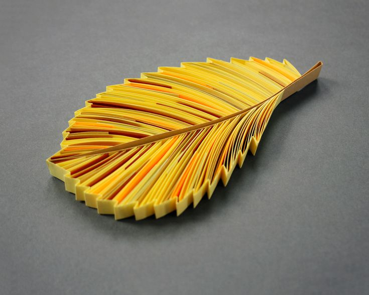 """ULMUS AMERICANA [Elm], majority 3/8"""" quilling paper, unmounted. Approximately 2.8 x 5.5 in / 7 x 14 cm.  JUDiTH+ROLFE"""
