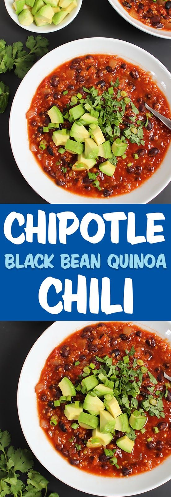 Smoky Chipotle Black Bean Quinoa Chili