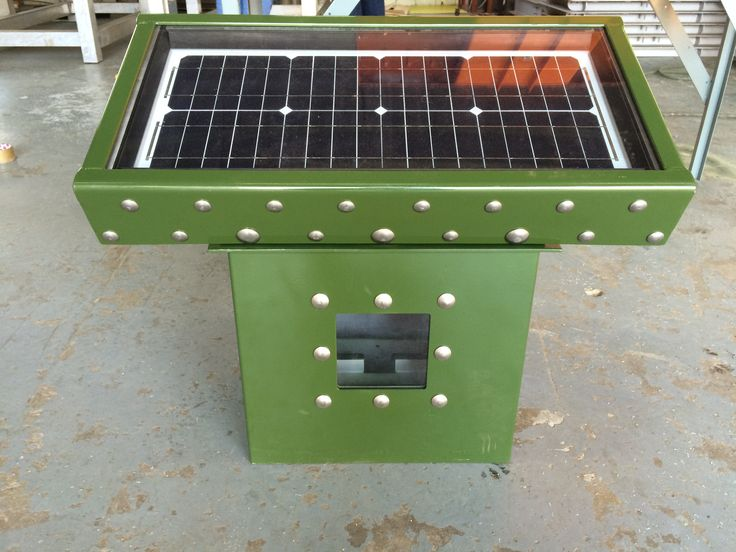 FTC3 - Field Telemetry Cabinet Fitted on top is the SPX 20W Solar Panel Protection