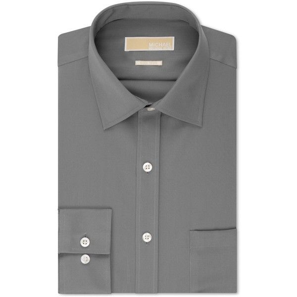 Michael Michael Kors Men's Classic-Fit Non-Iron Twill Dress Shirt ($52) ❤ liked on Polyvore featuring men's fashion, men's clothing, men's shirts, men's dress shirts, gun metal, michael kors mens shirts, mens classic fit shirts, mens non iron dress shirts, michael kors mens dress shirts and men's spread collar dress shirts