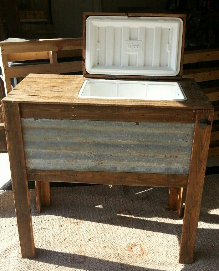 Rustic Cooler Stand Rustic Cooler Stand Pinterest