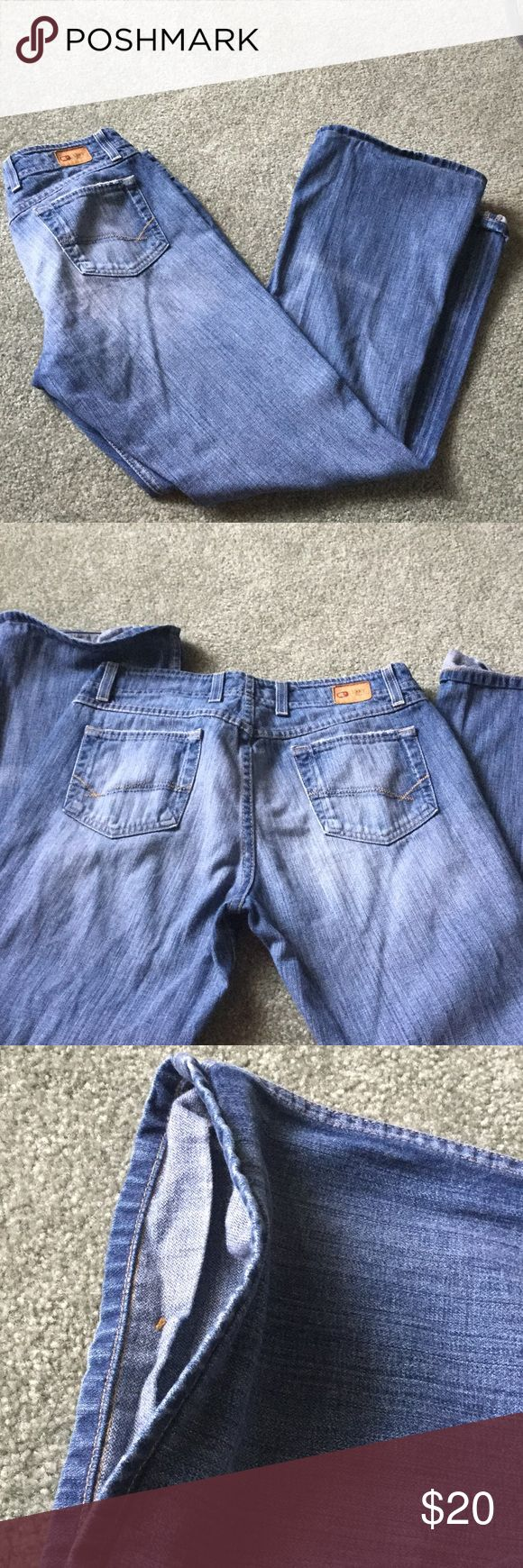 """Ladies BKE jeans Sassy style . Can't find size. Fits like a 12. Has been altered to fit 5'5"""" but just folded it over so can be undone to fit taller. This altering was done at the Buckle store and I did not like it so very seldom worn. BKE Jeans Straight Leg"""