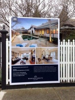 Wrap around real estate boards for real estate - Briner Signage Solutions
