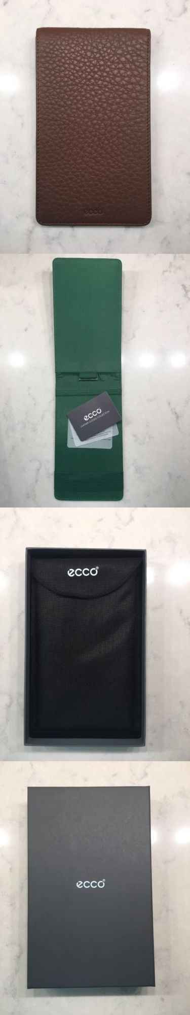 Scorecards and Holders 90865: Ecco Leather Haikou Golf Scorecard Brown Oil Bark Score Card -> BUY IT NOW ONLY: $49.99 on eBay!