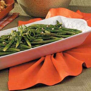 Marinated Asparagus Salad Recipe- Recipes  A no-fuss side dish is great when entertaining. The asparagus is cooked and chilled in advance, then stands at room temperature in the marinade while I visit and prepare the rest of the meal.                                     —Janice Connelley, Spring Creek, Nevada