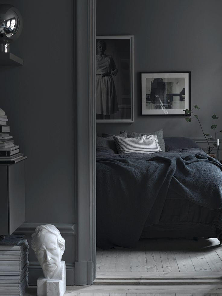 all dark bedroom - moody