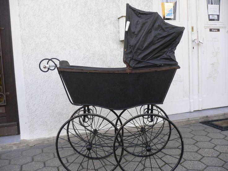 antiker kinderwagen anno 1900 gut erhalten teil. Black Bedroom Furniture Sets. Home Design Ideas