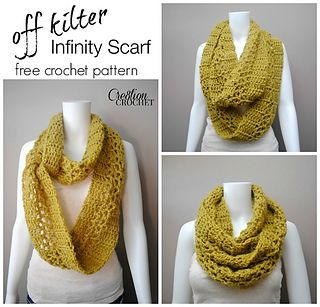 Free pattern _ This light weight and lofty infinity scarf works up super-fast…