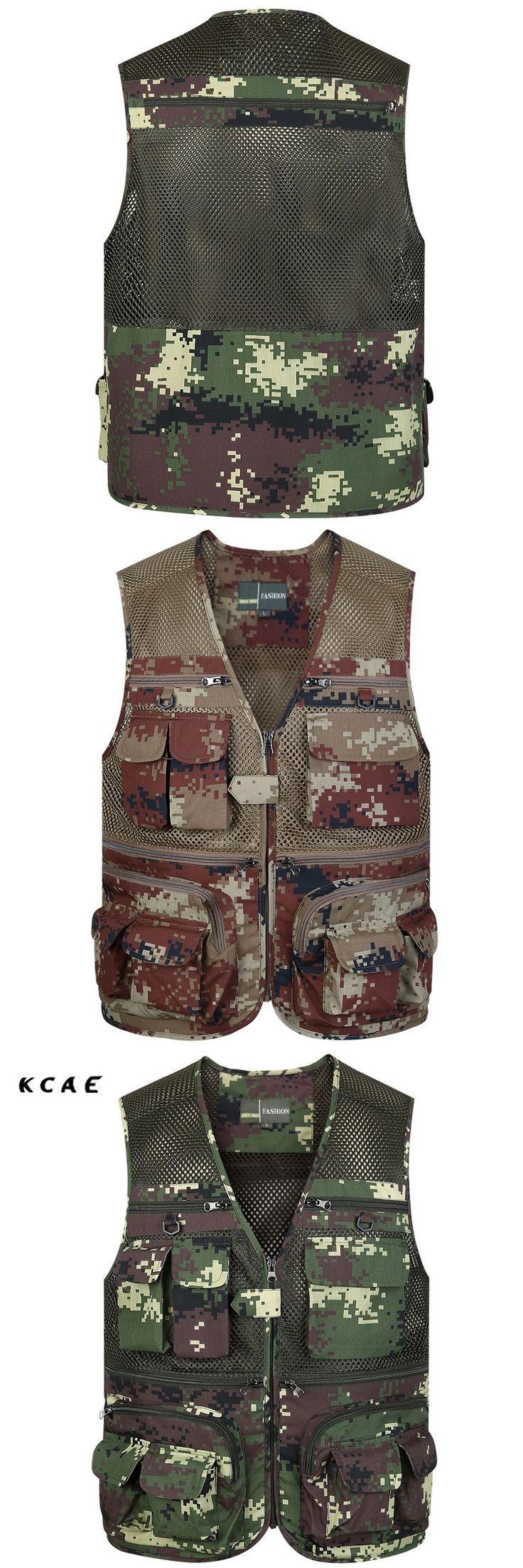 2017 New Summer Outdoors Camouflage Travels Vests Mesh Vest L-4XL Photographer Vest Shooting Vest with Many Pocket Wholesale