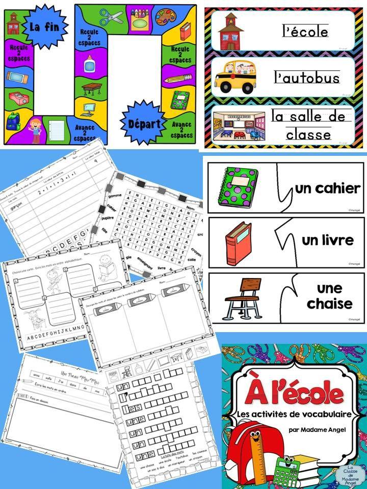 Activités pour le vocabulaire!