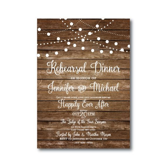 Rustic Rehearsal Dinner Invitation  Country Chic  by ClearyLane